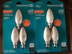 2 X EcoSmart 60 Watt Equivalent Dimmable - B11 LED Light Bul
