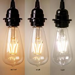 2016 Vintage Retro Edison E27 2-8W Screw LED Filament Light