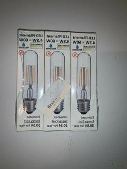 LED2020 LED T10 Filament Light Bulb, 120VAC, Day Light , 4.5