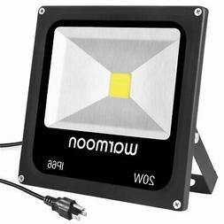 warmoon 20W LED Flood Light Daylight White,100W Halogen Bulb