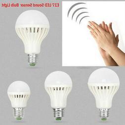 220/110V 3W 5W 7W 12W Sound/Voice Sensor LED Bulb PIR Motion