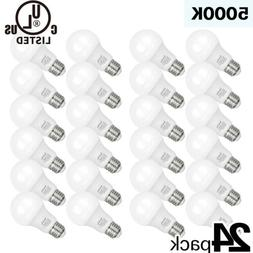 Hykolity 24 Pack 9W A19 LED Light Bulb 60W Equiv 5000K Dayli