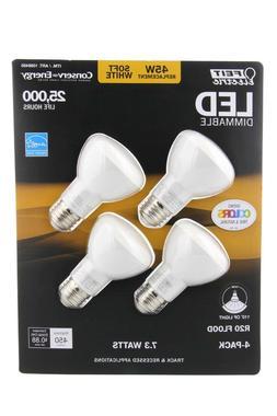 Feit 8 Watt R20 LED Dimmable Flood Light Bulbs 2-Pack