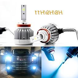 2pcs H8 H9 H11 Ice Blue 8000K COB LED Headlight Bulbs Conver