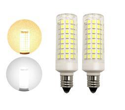 2pcs E11 LED Light bulb 7W 110V 120V 102Led 2835SMD Ceramics