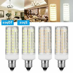 2pcs E11 LED Light Bulb 9W 110V 120V Dimmable 102 LED Cerami