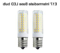 2pcs E17 C9 LED bulb 102-2835 Ceramics Light 7W 110V 120V La