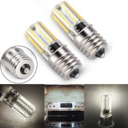 2x E17 LED Bulb Microwave Oven Light Dimmable 4W Natural Whi