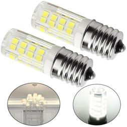 2PCS LED Replacement Light Bulb for Appliance E17 Socket 4W