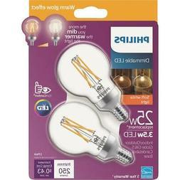 2pk 25w G16.5cn Led Bulb 536714  - 1 Each