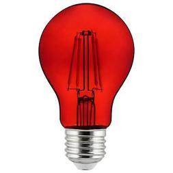 2Pk - SUNLITE Red A19 LED 4.5W E26 Medium Base Filament Bulb