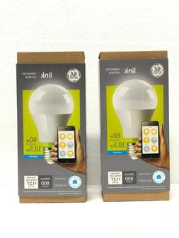2PK White & Color 800 Lumen  A19 LED Smart Light Bulb 3rd Ge
