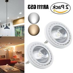 2x 12W LED G53 AR111 Super Bright COB Leds Recessed Spotligh