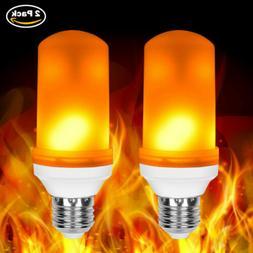 2X E26 LED Flicker Flame Light Bulb Simulated Burning Fire E