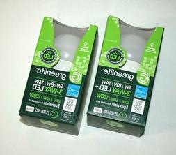 2X LED 3-WAY Bulb Uses only 4W/8W/14W 3000K Replaces 40W/60W
