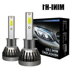 2x mini h1 cob led headlight bulb