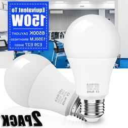 2x Super Bright LED Bulb 150W Equivalent  A19 6500K 1350lm C