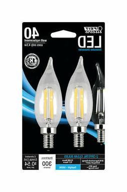 FEIT Electric  3.3 watts CA10  LED Bulb  300 lumens Soft Whi
