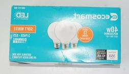 3 EcoSmart 40 Watt G25 Dimmable Energy Star LED Light Bulb