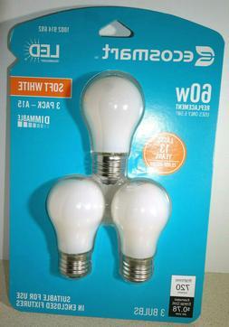 3 EcoSmart A15 Antique Edison Dimmable Glass LED Bulb Soft W