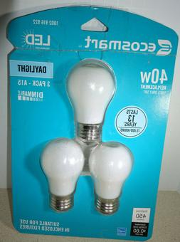3 EcoSmart A15 Light Bulb Filament Dimmable Frosted LED Dayl