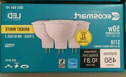 3-pack /  50w MR16 GU 5.3 Led Bulb Bright White EcoSmart