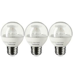 3 Pack Sunlite LED G16 Globe 7W-60W Equivalent Bulb Medium