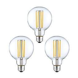 3 pack - Modvera G25 LED Globe Light Bulb 40 Watt Equivalent