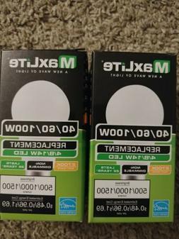 2 Maxlite 3 Way LED Bulb 40 60 100 Watt Replacement 4/8/14W