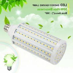 300W Equivalent LED Bulb 168-Chip Corn Light E26 5000lm 50W