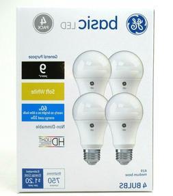 GE Lighting 36993 Basic LED , 750-Lumen A19 Bulb, Medium Bas