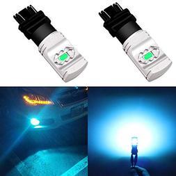 Alla Lighting 3800lm T25 3156 3157 Ice Blue LED Bulbs Xtreme