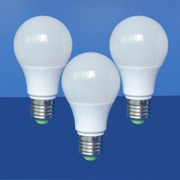 3pcs 60W Equivalent E27 A19 AC/DC 12-24V LED Light Globe Bul