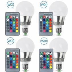 5W 10W E27 RGB RGBW LED Light Bulb Magic Lamp 16 Color Chang