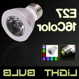 3w e27 16 color rgb magic led