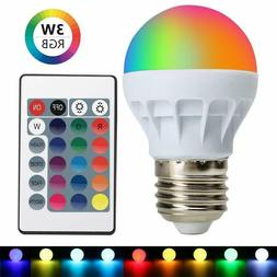 3W E27 16 Color RGB Magic LED Spot Light Bulb Lamp Remote Co
