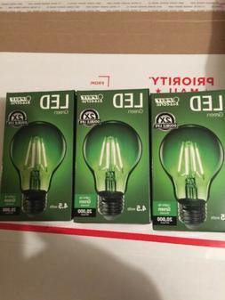 3x green light bulb green decorative a19