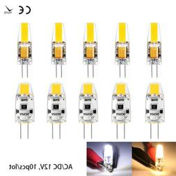 4/10/20x G4 LED Warm/cold Dimmable COB Bulb 3W/6W AC/DC 12V