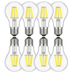 4 6 8x E26 Dimmable LED Bulb Filament Edison Retro Light A60
