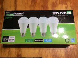 4 bulbs led 15w daylight 5000k a19