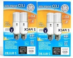4 GE LED Bright Stik 60W Equivalent Soft White General Purpo