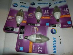 4 new Philips 2.7W  LED Soft White light bulbs Candelabra E1