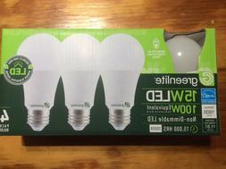 4 Pack 15w Greelite LED 100 Watt Equivalent A type Light Bul