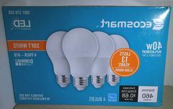 4 Pack 40W Equivalent 40 Watt Soft White A19 Energy Star LED