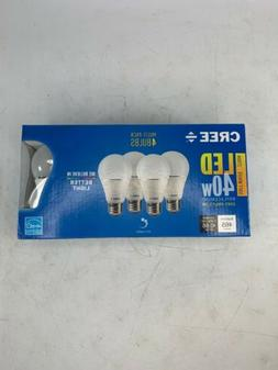 4-Pack CREE 40W Equivalent Soft White 2700K A19 Dimmable LED