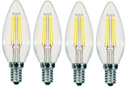 4 pack 4W 40W E12 Sunbeam Dimmable LED Candle chandelier Cei