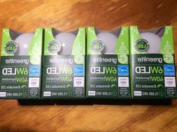 4 Pack 6w Greelite LED 40 Watt Equivalent A type Light Bulb