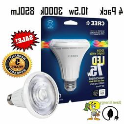 4 pack CREE 75W PAR30 BR30 BRIGHT WHITE Flood Dimmable LED 3