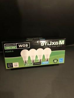4 pack Maxlite 9w LED Bulb 60 watt replace A19 Daylight 5000