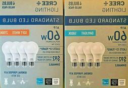 4 pack led 60w replacement a19 daylight
